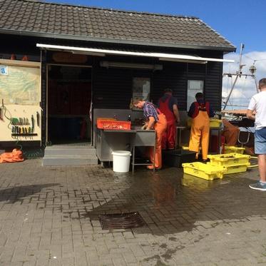 Fischer Koldevitz im Hafen von Gager